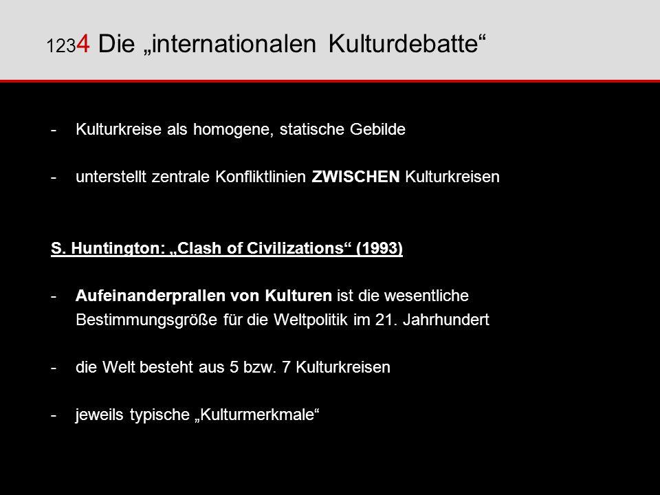 """1234 Die """"internationalen Kulturdebatte"""