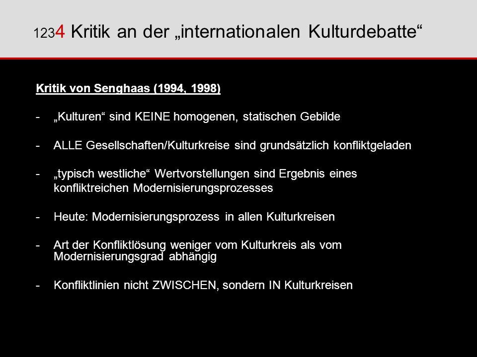 "1234 Kritik an der ""internationalen Kulturdebatte"