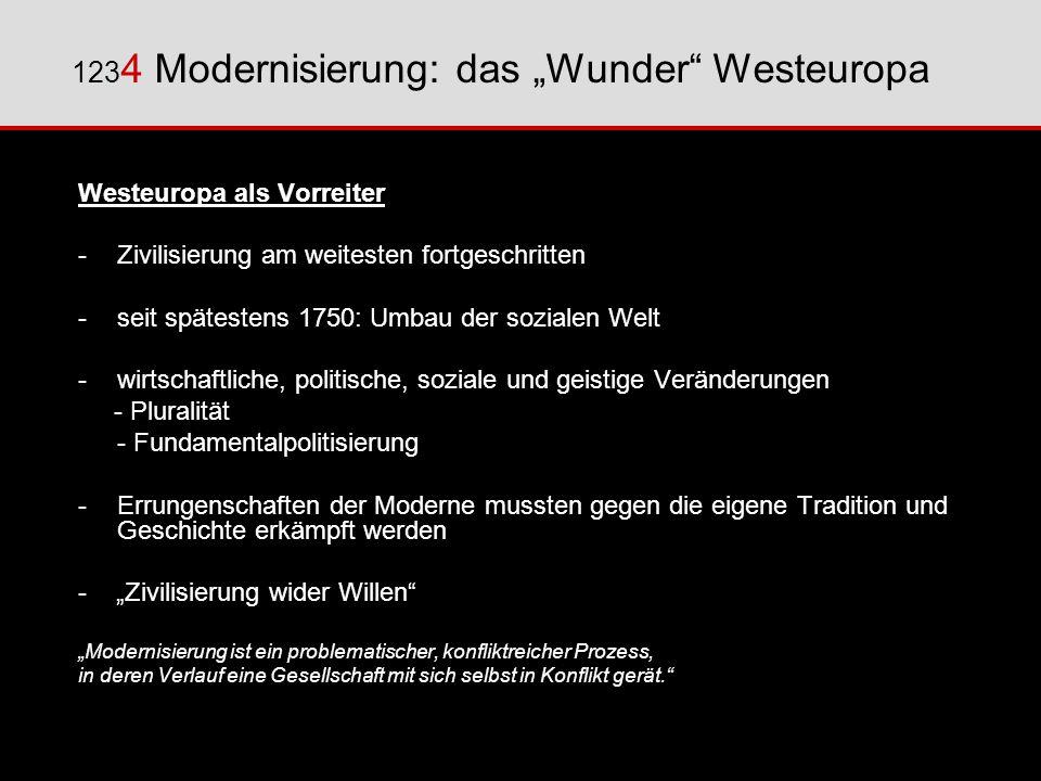 """1234 Modernisierung: das """"Wunder Westeuropa"""