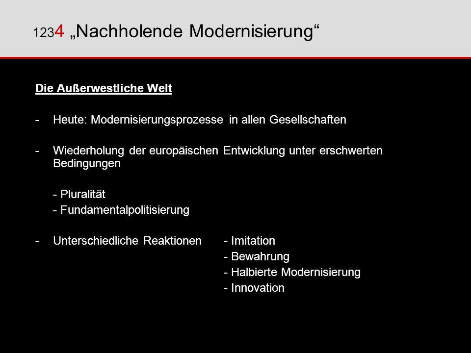 """1234 """"Nachholende Modernisierung"""