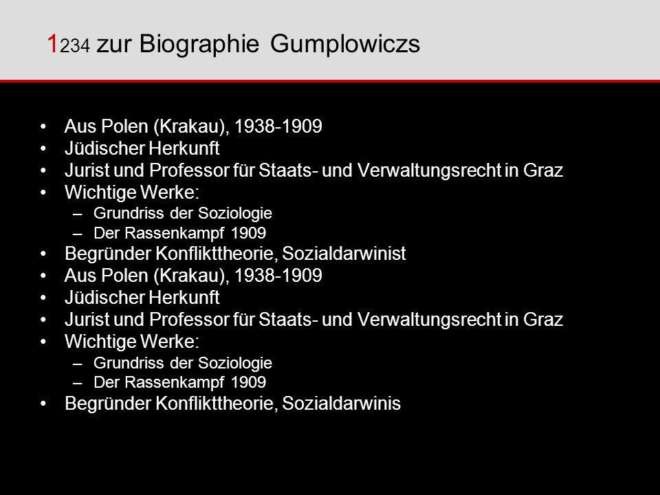1234 zur Biographie Gumplowiczs