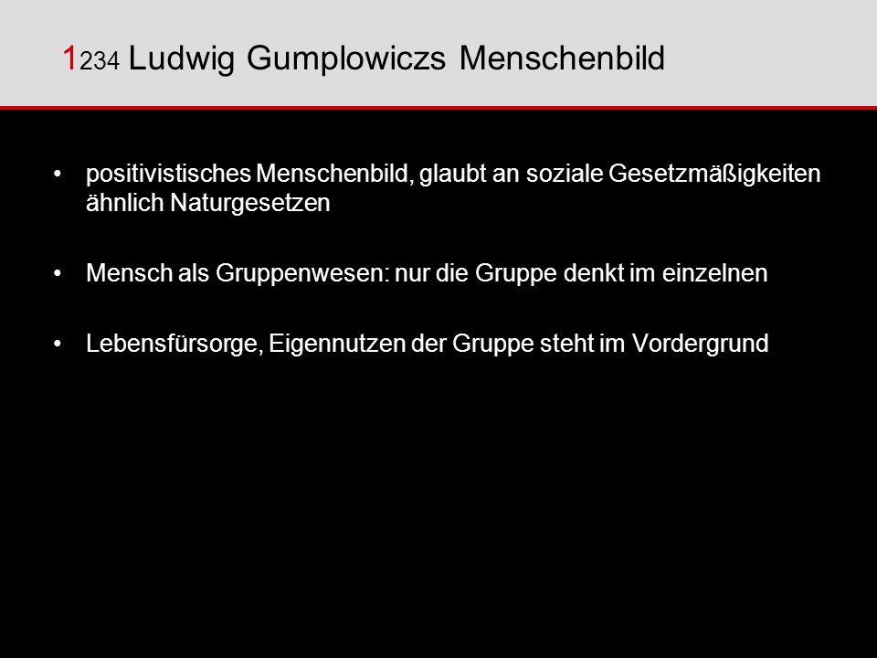 1234 Ludwig Gumplowiczs Menschenbild