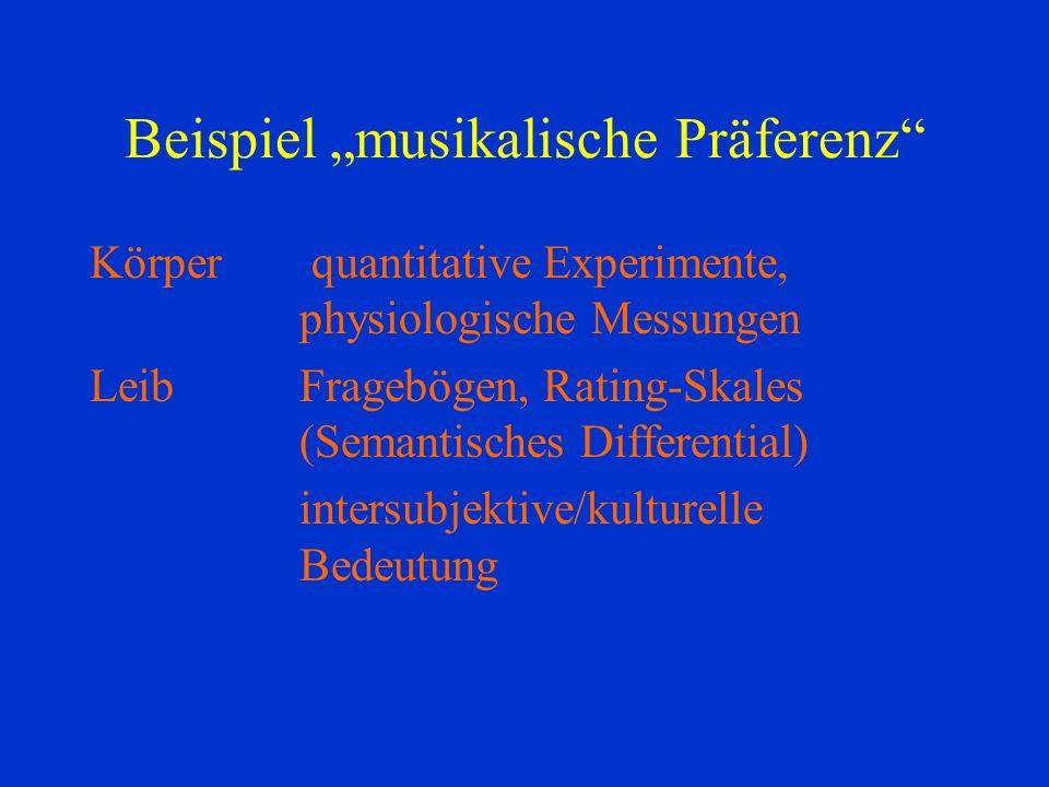 """Beispiel """"musikalische Präferenz"""