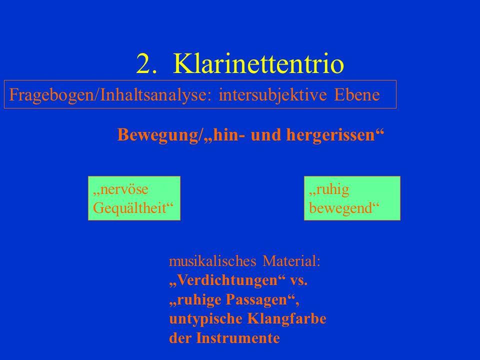 2. Klarinettentrio Fragebogen/Inhaltsanalyse: intersubjektive Ebene