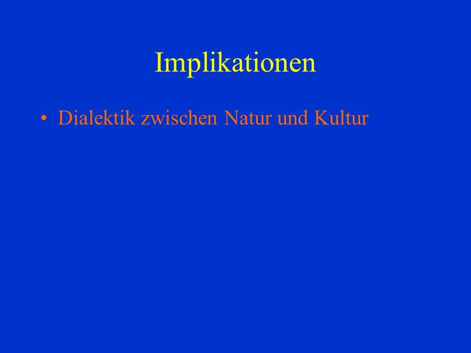 Implikationen Dialektik zwischen Natur und Kultur