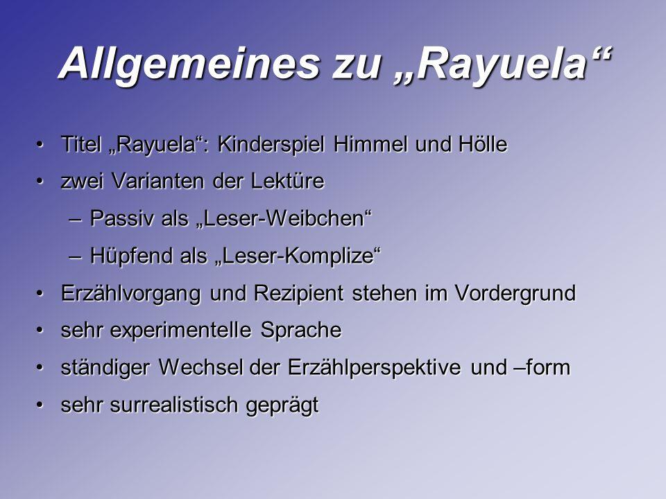 """Allgemeines zu """"Rayuela"""
