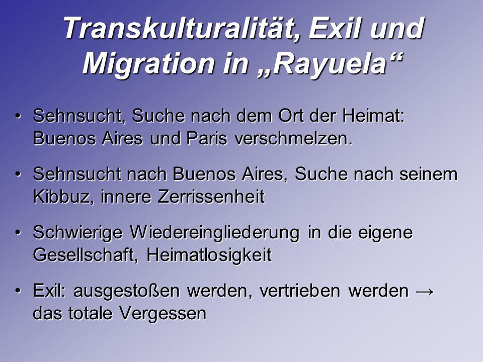 "Transkulturalität, Exil und Migration in ""Rayuela"