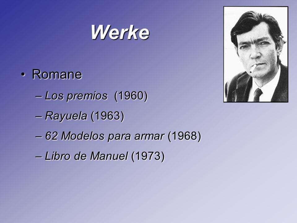 Werke Romane Los premios (1960) Rayuela (1963)