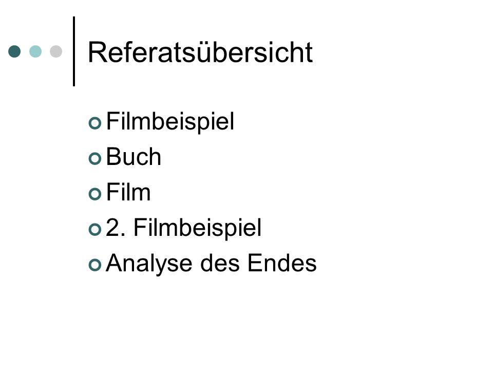 Referatsübersicht Filmbeispiel Buch Film 2. Filmbeispiel