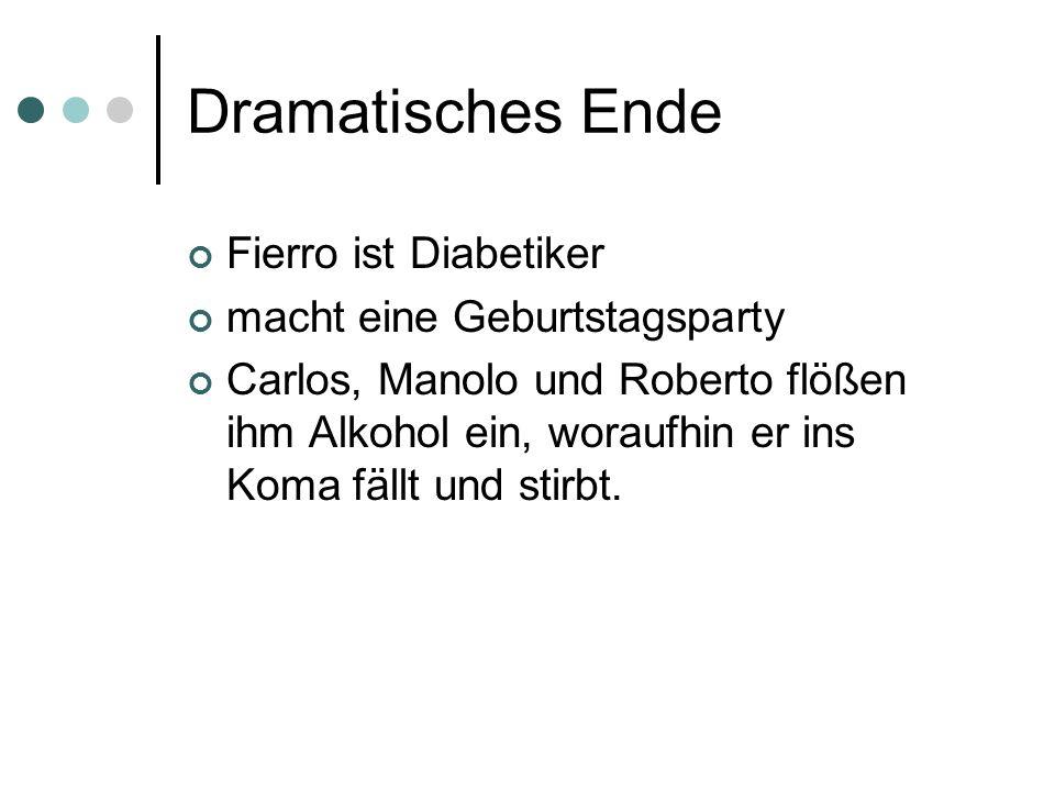 Dramatisches Ende Fierro ist Diabetiker macht eine Geburtstagsparty