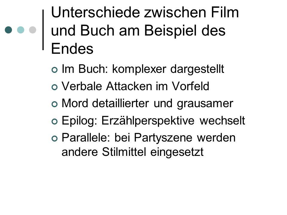 Unterschiede zwischen Film und Buch am Beispiel des Endes