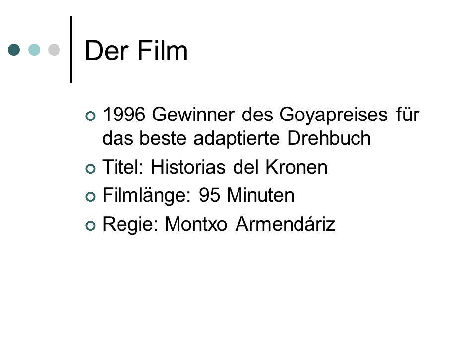 Der Film 1996 Gewinner des Goyapreises für das beste adaptierte Drehbuch. Titel: Historias del Kronen.