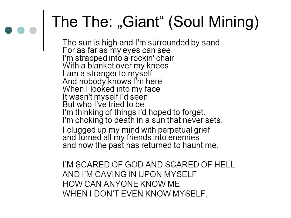 "The The: ""Giant (Soul Mining)"