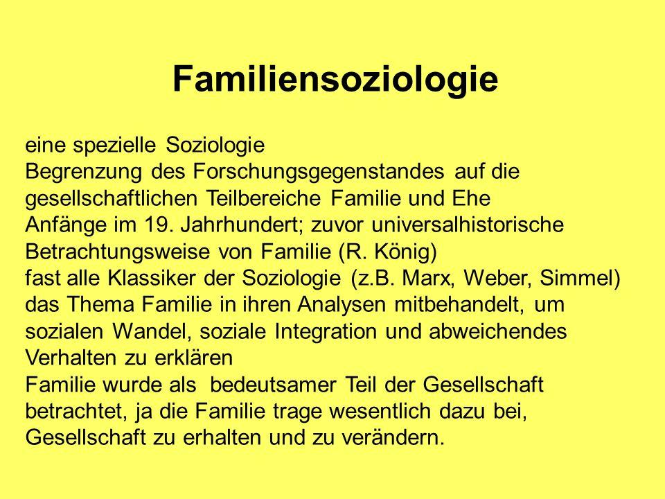 Familiensoziologie eine spezielle Soziologie