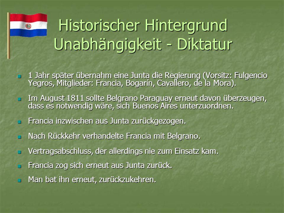 Historischer Hintergrund Unabhängigkeit - Diktatur