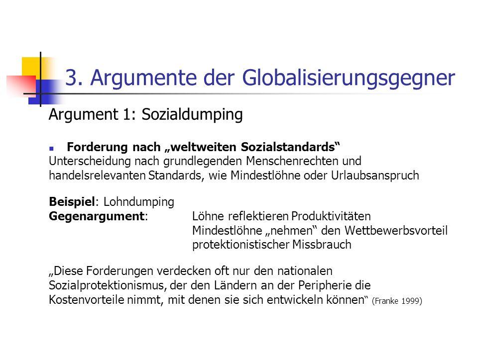 3. Argumente der Globalisierungsgegner