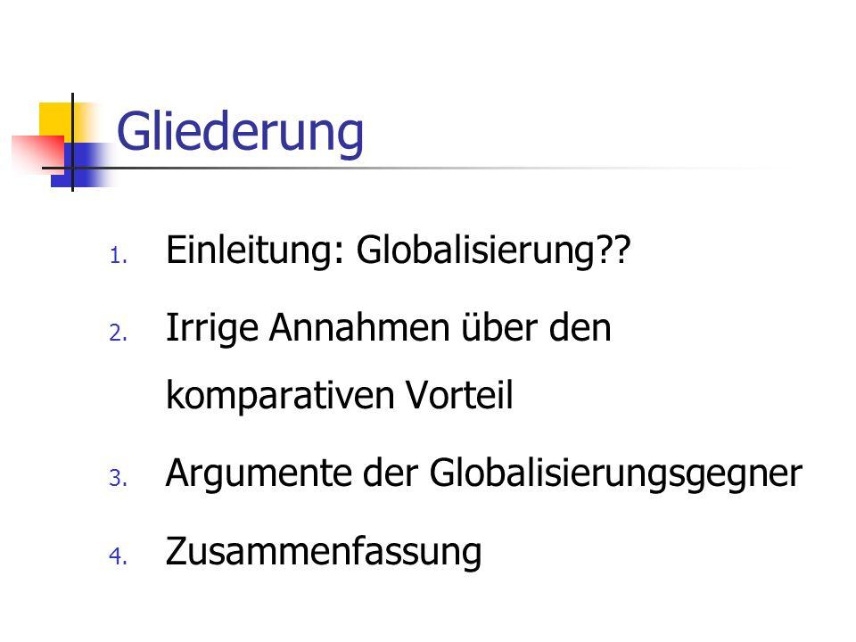 Gliederung Einleitung: Globalisierung