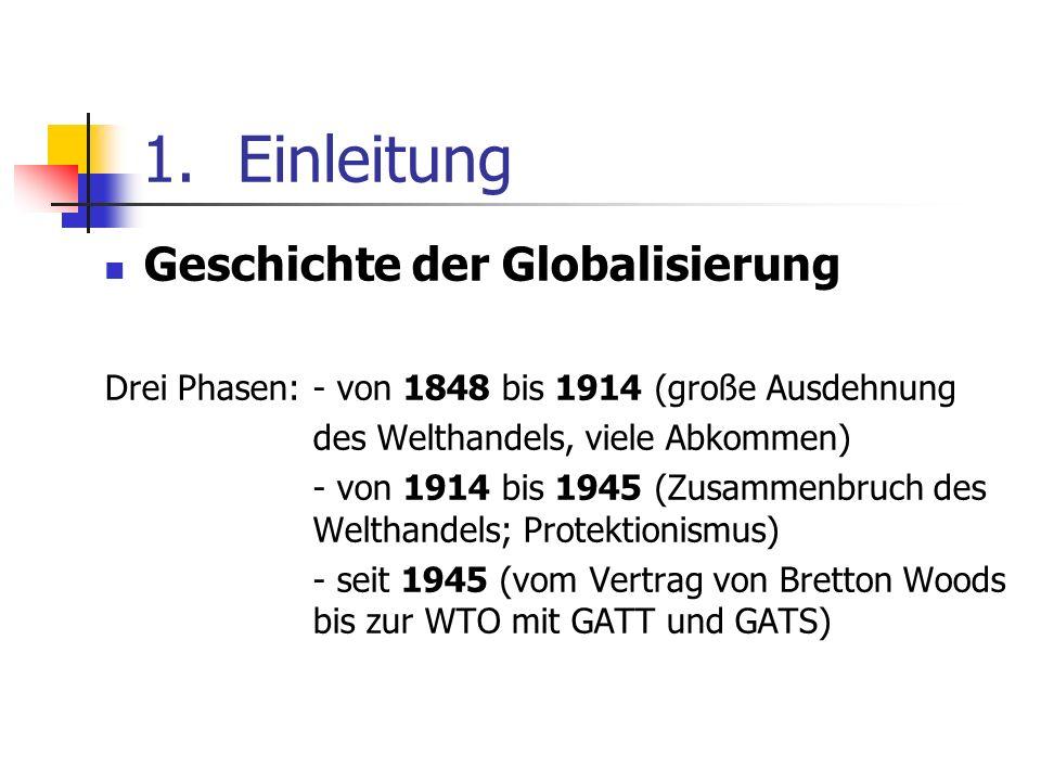 Einleitung Geschichte der Globalisierung