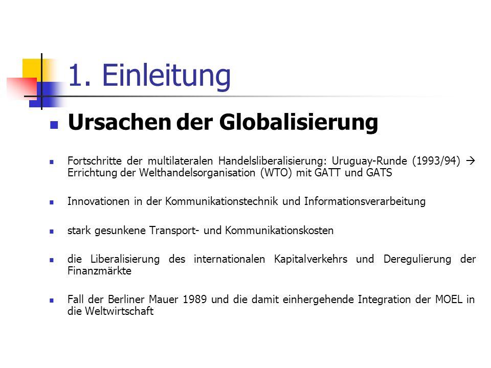 1. Einleitung Ursachen der Globalisierung
