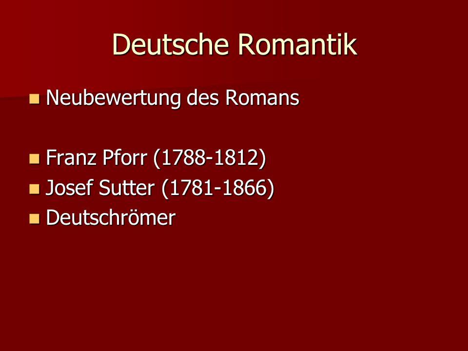 Deutsche Romantik Neubewertung des Romans Franz Pforr (1788-1812)