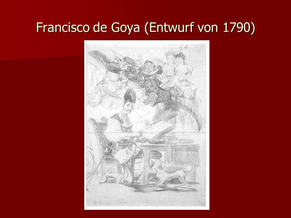 Francisco de Goya (Entwurf von 1790)