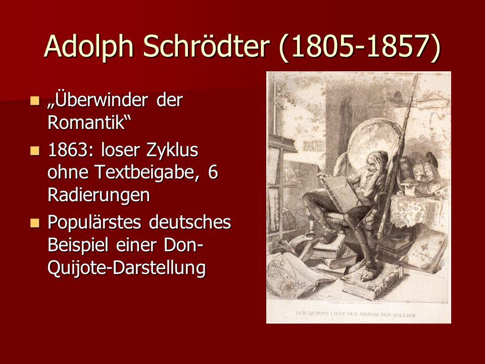 """Adolph Schrödter (1805-1857) """"Überwinder der Romantik"""