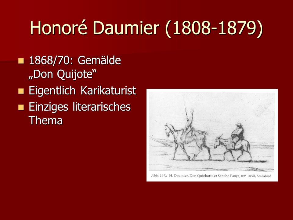 """Honoré Daumier (1808-1879) 1868/70: Gemälde """"Don Quijote"""