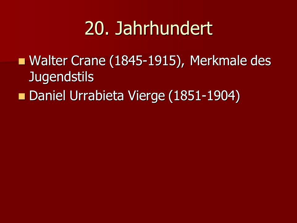 20. Jahrhundert Walter Crane (1845-1915), Merkmale des Jugendstils