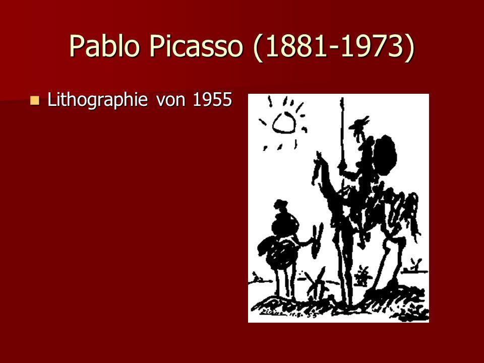 Pablo Picasso (1881-1973) Lithographie von 1955