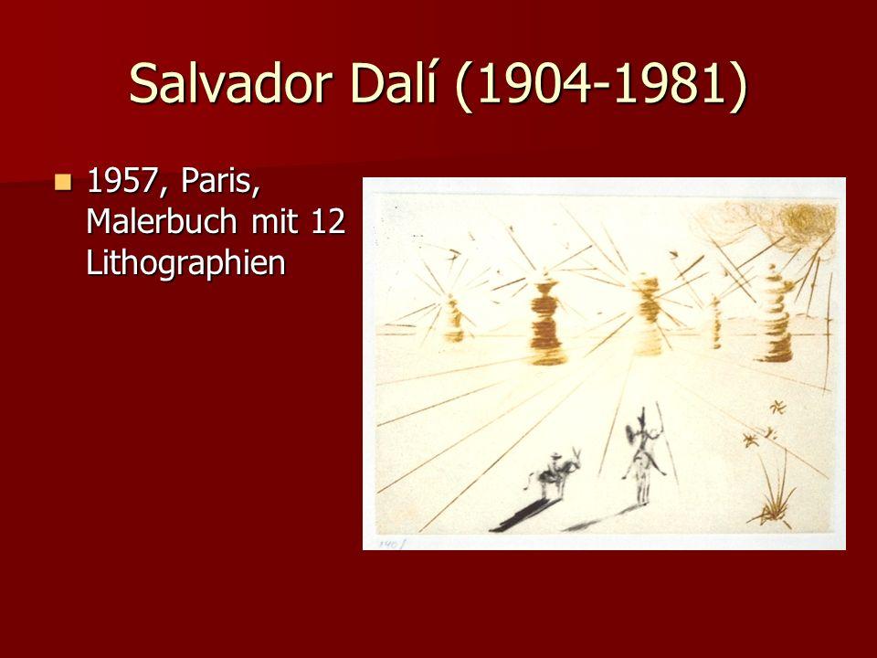 Salvador Dalí (1904-1981) 1957, Paris, Malerbuch mit 12 Lithographien