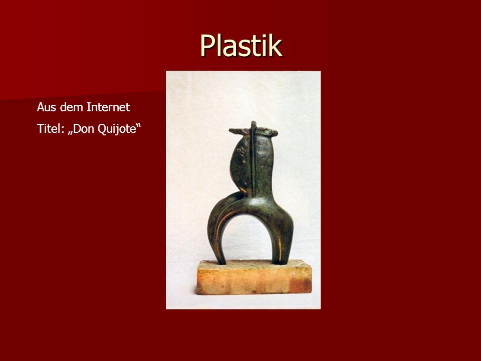 "Plastik Aus dem Internet Titel: ""Don Quijote"