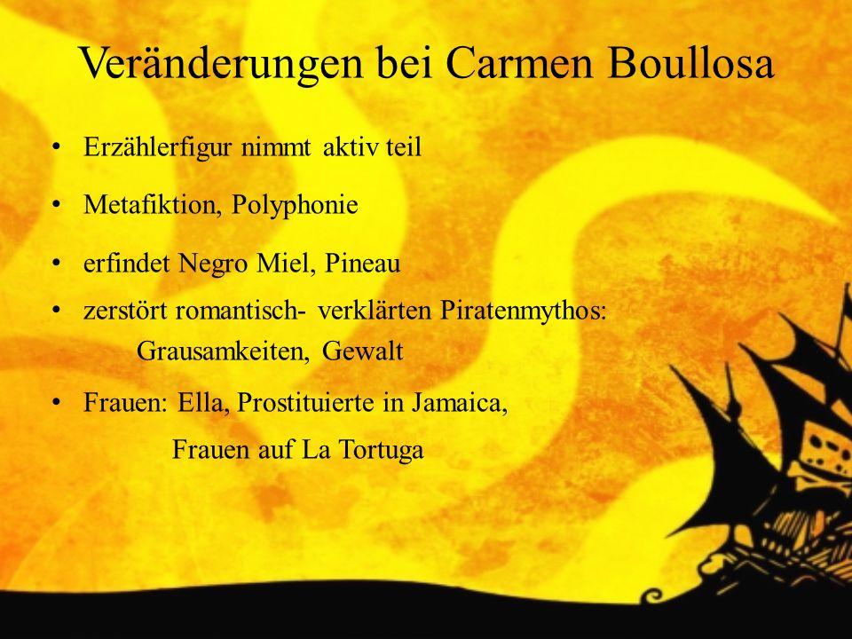 Veränderungen bei Carmen Boullosa