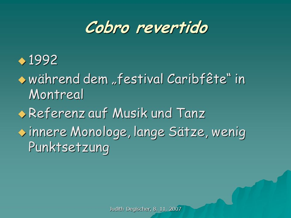 "Cobro revertido 1992 während dem ""festival Caribfête in Montreal"