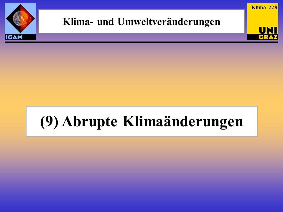 Klima- und Umweltveränderungen (9) Abrupte Klimaänderungen