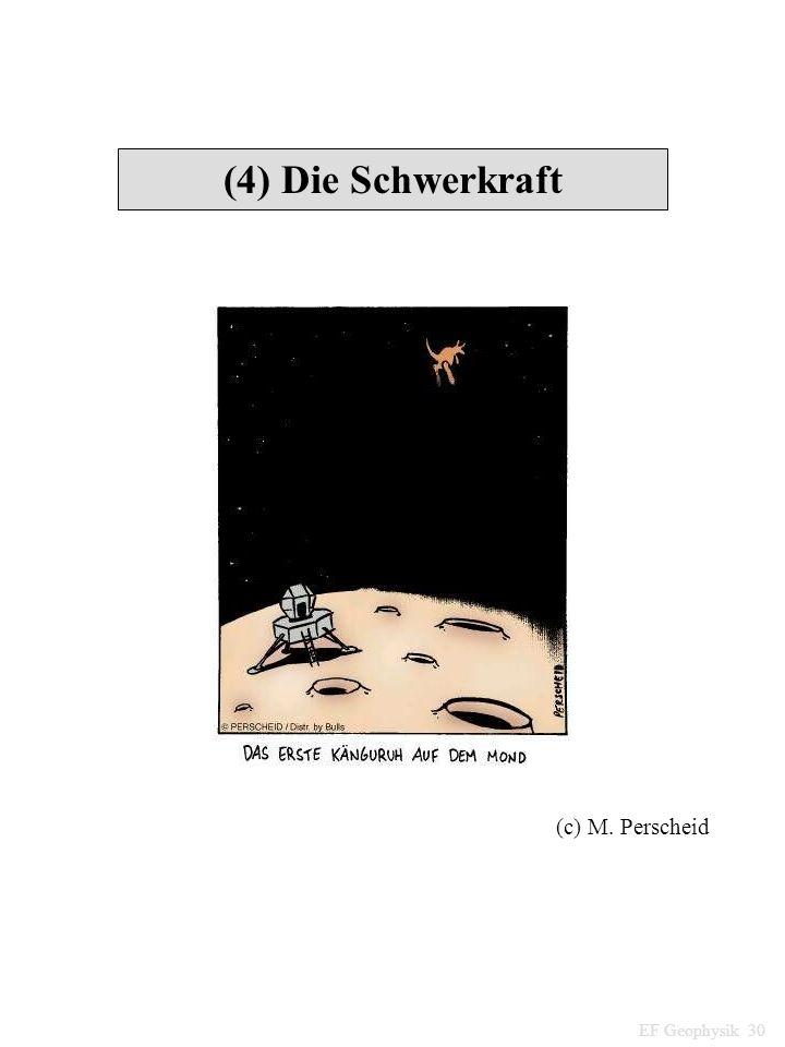 (4) Die Schwerkraft (c) M. Perscheid EF Geophysik 30