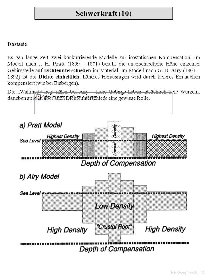 Schwerkraft (10) Isostasie