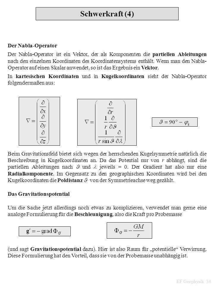 Schwerkraft (4) Der Nabla-Operator