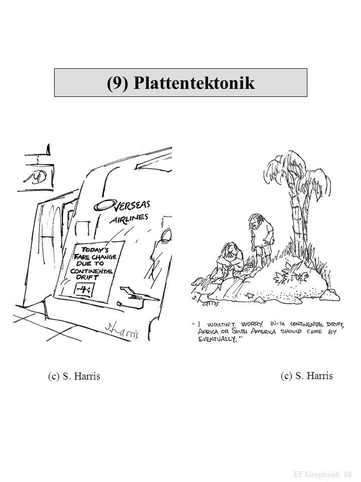(9) Plattentektonik (c) S. Harris (c) S. Harris EF Geophysik 68