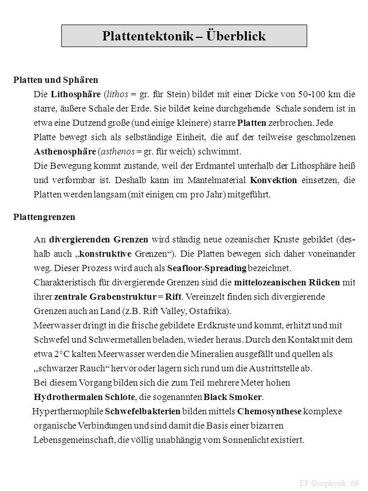 Plattentektonik – Überblick