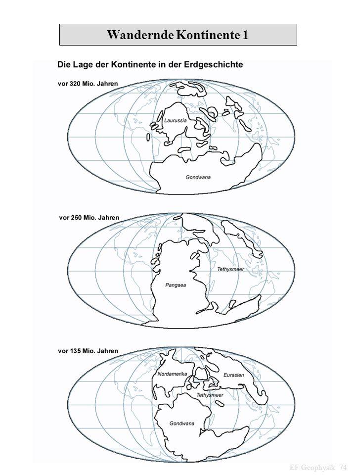 Wandernde Kontinente 1 EF Geophysik 74