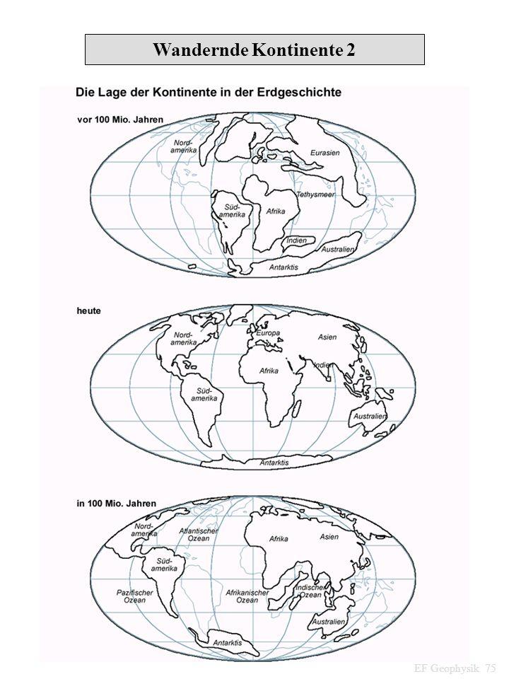 Wandernde Kontinente 2 EF Geophysik 75