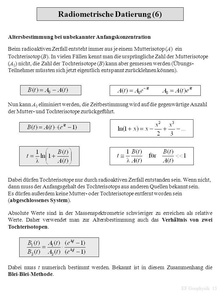 Radiometrische Datierung (6)
