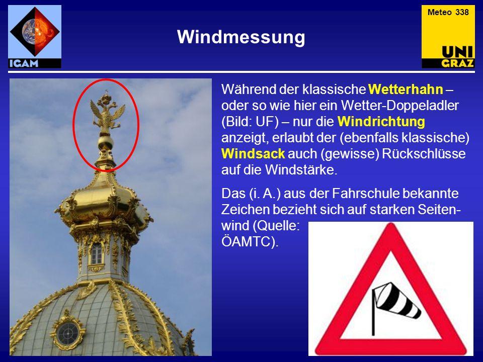 Meteo 338 Windmessung.