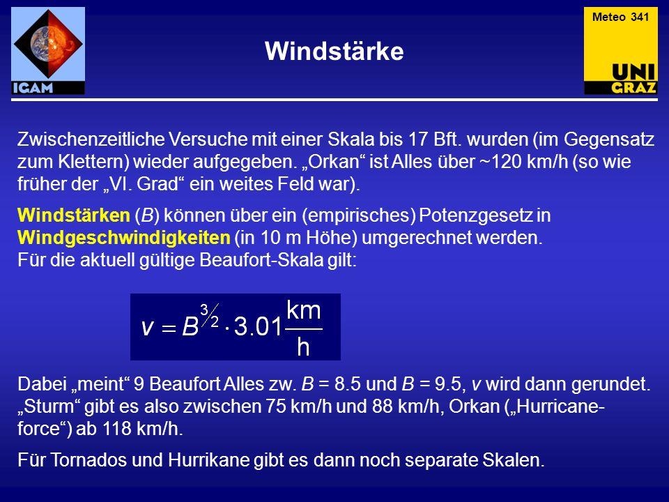 Meteo 341 Windstärke.