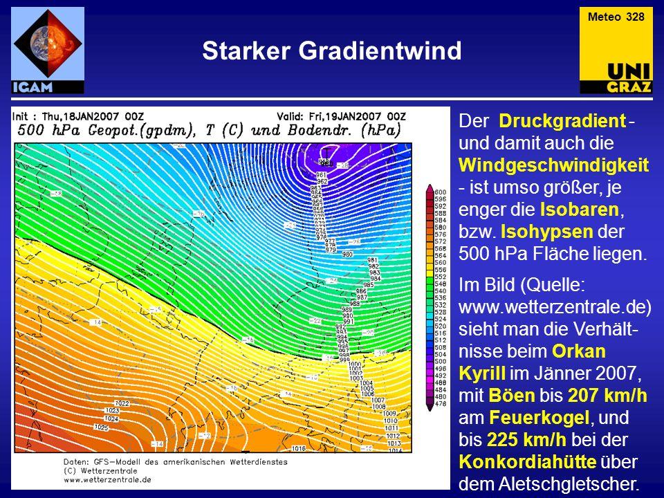 Meteo 328 Starker Gradientwind.