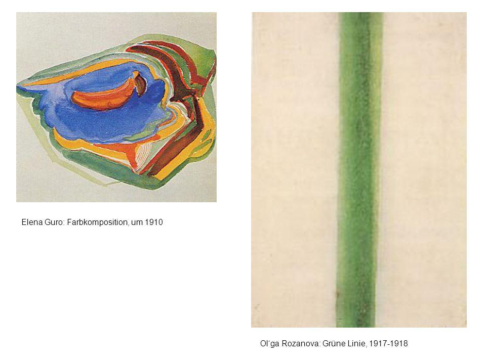 Elena Guro: Farbkomposition, um 1910