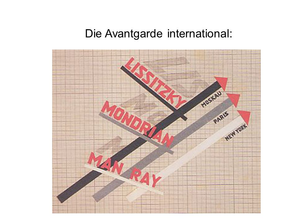 Die Avantgarde international: