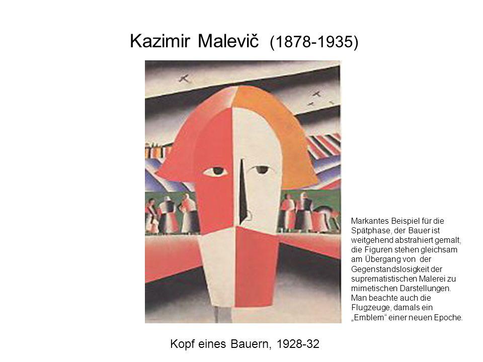 Kazimir Malevič (1878-1935) Kopf eines Bauern, 1928-32