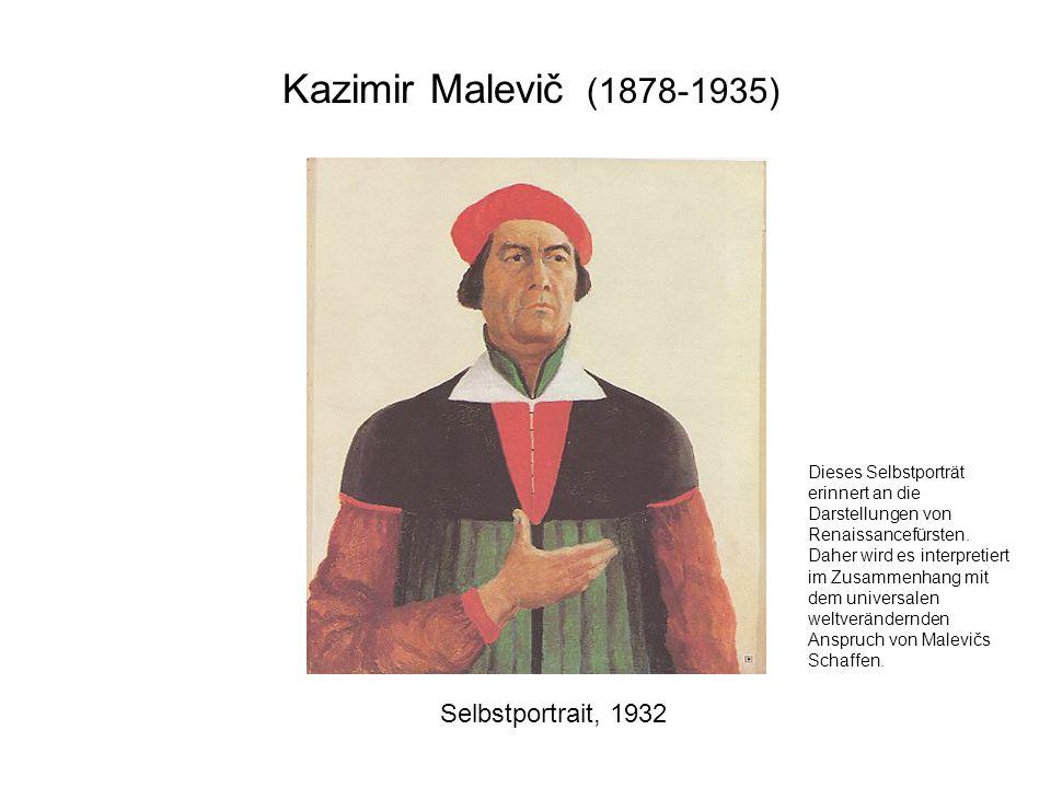 Kazimir Malevič (1878-1935) Selbstportrait, 1932