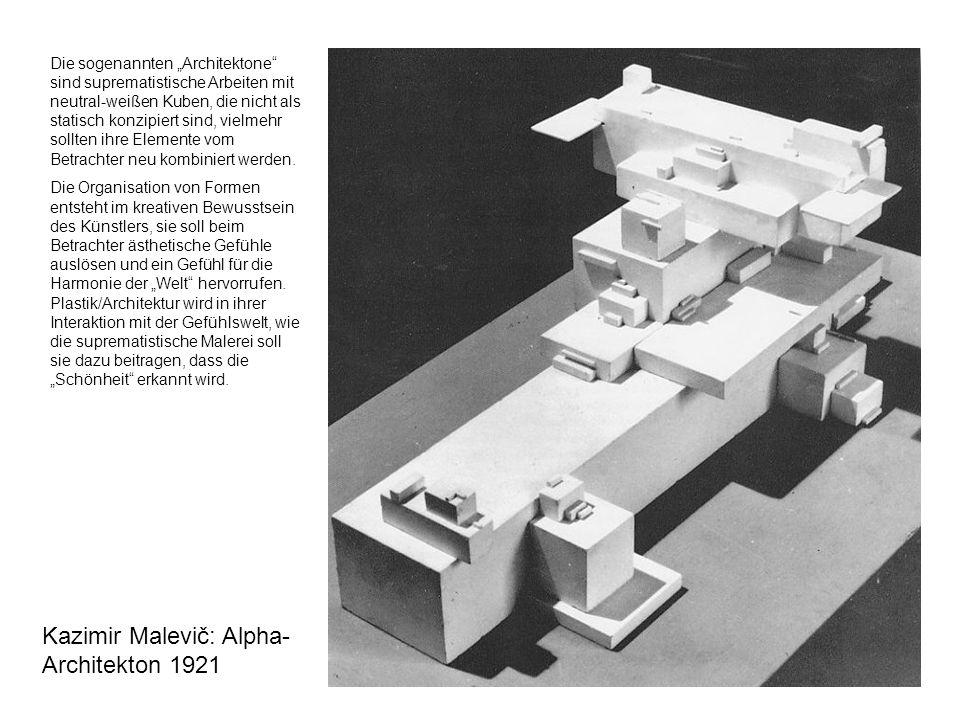 Kazimir Malevič: Alpha-Architekton 1921